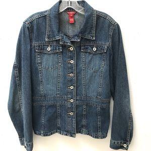 EUC Sundance Button Up Denim Jacket Size 12